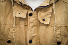 Brown autumn cotton jacke Stock Photo