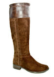 Brown autumn  woman's boots Royalty Free Stock Photos