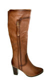 Brown autumn  woman's boots Stock Photos