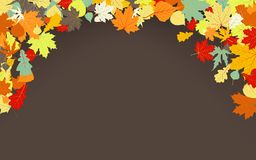 Brown autumnal background. EPS 8 Royalty Free Stock Photography
