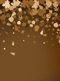 Brown autumnal design template. EPS 8 Royalty Free Stock Image