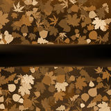 Brown autumnal design template. EPS 8 Royalty Free Stock Photography