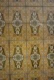 Brown Azulejos con l'ornamento floreale fotografia stock libera da diritti