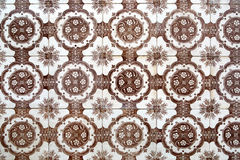 Brown azulejos from Lisbon Royalty Free Stock Photography