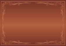 Brown background. With decorative corners Royalty Free Stock Images