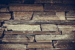 Brown background of brick stone wall. Texture pattern layout Stock Photos