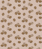 Brown background with coffee beans. Seamless background. Royalty Free Stock Photography