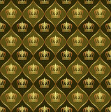 Brown background with crowns Royalty Free Stock Photography