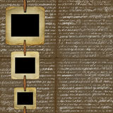 Brown background for design with grunge slides Royalty Free Stock Photos