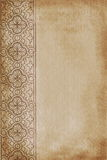 Brown background with floral element Stock Image