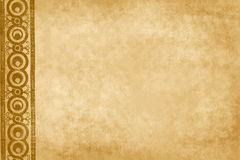 Brown background with floral element Royalty Free Stock Image