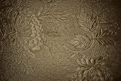 Brown background floral pattern Royalty Free Stock Photos