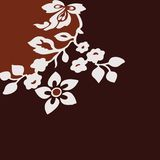 Brown background with flower Royalty Free Stock Photography
