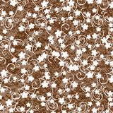 Brown background with  foliage Stock Image