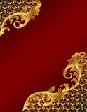 Brown background with gold(en) ornament Royalty Free Stock Photography