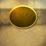 Brown background with gold frame. Warm elegant brown and gold tones background with dark brown golden frame area for copy space layout stock illustration