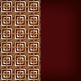 Brown background with gold pattern Stock Photo