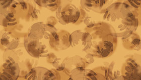 Brown background with graph circles Royalty Free Stock Image