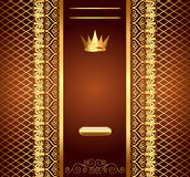 Brown background for invitation gold Stock Image