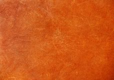 Brown background of leather Royalty Free Stock Images