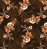 Brown background with lined of brown flowers. Stock Photos
