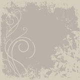 Brown Background. Background with ornament and plants in brown color Royalty Free Stock Images