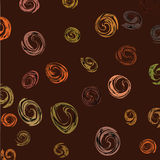 Brown background with oval elements Royalty Free Stock Photo