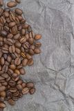 Brown background pattern from coffee grains Stock Images