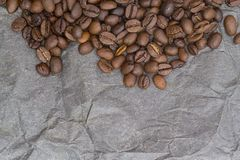 Brown background pattern from coffee grains Stock Photography