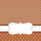 Brown background, polka dots - card or invitation Royalty Free Stock Photography