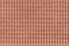 Brown background from soft fleecy fabric close up. Texture of textiles macro Royalty Free Stock Images