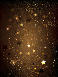 Brown background with stars Stock Images