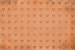 Brown background with stone texture and heart shapes Stock Photo