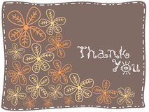 Brown background with thankyou text Royalty Free Stock Photography