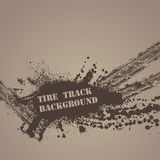 Tire track background Royalty Free Stock Image