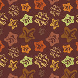 Brown background with varicoloured elements Royalty Free Stock Photos