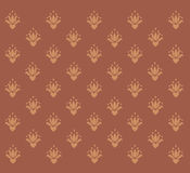 Brown background with vintage patterns Royalty Free Stock Photo