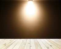 Brown background with warm spotlight Royalty Free Stock Photography