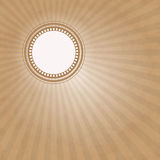 Brown background. White circle on an brown background Royalty Free Stock Photography