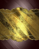 Brown Background With Decorative Plate. Royalty Free Stock Images