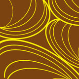 Brown background,yellow thick and thin lines in curves. Brown background,yellow lines and curves Royalty Free Stock Photo