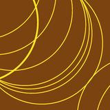 Brown background,yellow thick and thin lines in curves Stock Photo