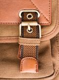 Brown backpack buckle Royalty Free Stock Photos