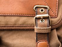 Brown backpack buckle Stock Photos