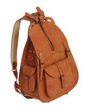 Brown backpack Royalty Free Stock Images