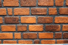Brown-Backsteinmauerhintergrund des Gebäudes Stockfoto