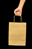 Brown Bag. This is Brown Bag.It a recycle material Stock Image