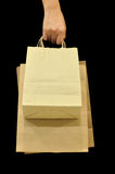 Brown Bag. This is Brown Bag.It a recycle material Royalty Free Stock Images