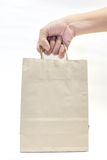 Brown Bag. This is Brown Bag. It a recycle material stock photography