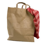 Brown Bag. Brown paper shopping bag on white background Royalty Free Stock Image
